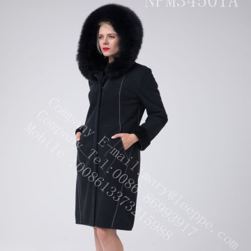 Cappotto in shearling merino australiano per donna