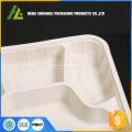 4-Fach-Einweg-Lebensmittel-Kunststoff-Box