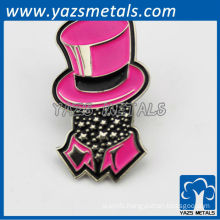 Customized cheap metal haead badges