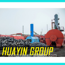 High Profit used tyre /rubber /plastic recycling to oil machine with cap 10mt/d