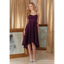 Короткая Атласная Коктейль Платье Невесты