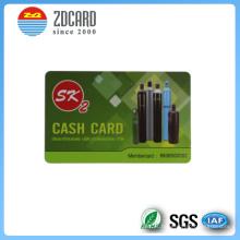 Cartão do presente do PVC para o mercado