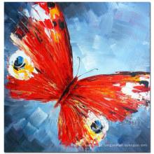 100% handmade borboleta pintura a óleo em tela para decoração para casa (xd1-271)