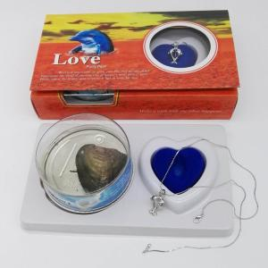 Love Pearl Necklace Gift With Double Dolphin Pendant