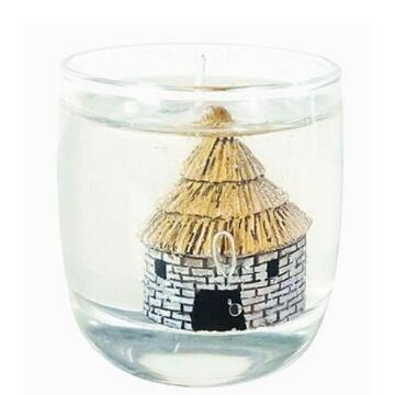 scents soy wax candles with gel candle decoration