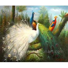 Peinture en toile d'hiver Peacock Hot Sale 2014