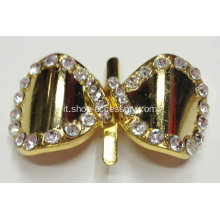 Simple Gold bowknot strass Fibbia