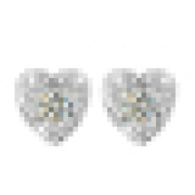 Women′s Fashion Atmospheric 925 Sterling Silver Heart-Shaped Earrings
