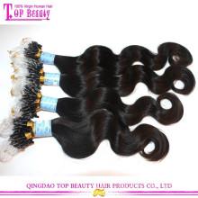 Produits de cheveux de mode de vente chaude doubles extensions de cheveux d'anneau de perles de micro pour le noir