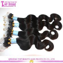 Extensões de cabelo de venda quente do cabelo do anel dos grânulos dobro do produto da forma para o preto