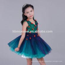2017 últimas crianças puffy frock dress design flor menina tulle dress