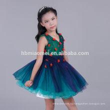 2017 Последний Пухлые Дети Фрок Дизайн Платье Девушки Цветка Тюль Платье