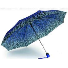"22""X8k, 3 Fold Duomatic Compact Printing Umbrellas"