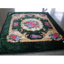 Estampado de estilo árabe y manta de poliéster barnizado tallado