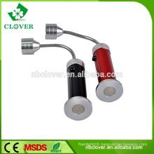 Super bright 9 LED flexible aluminum led magnetic work light