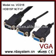 D15 Pin 1 * männlich bis 2 * weiblich Splitter Kabel Montage
