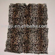Крашеные Европейский мех кролика пластины-два цвета леопарда пятна кожи мех кролика пластина