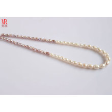 5-6-7mm Mixed Color Rice Freshwater Pearl Necklace (ES129-3)