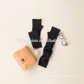 Black stylish ladies long fingerless thickening cashmere glove