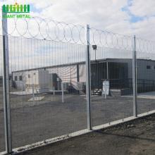 Galvanized 358 high security anti-climb fence