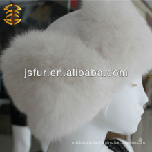 New Product White Wholesale Winter Fur Knit Women Hat