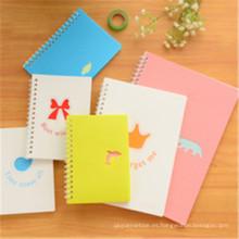 Cuaderno espiral personalizado Cuaderno de historieta de la impresión del cuaderno