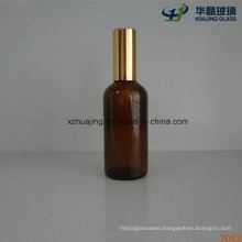 100ml Amber Essential Oil Glass Bottle with Gold Pump Spray