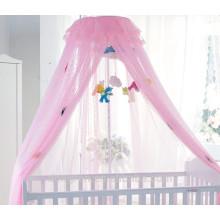 Розовая москитная сетка для принцессы
