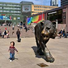 Décoration de jardin en plein air fonderie personnalisée en métal bronze tigre statue