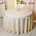 100% Polyester Round Champagne Linens Wedding Used Tablecloth for Sale