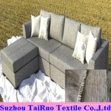 100% polyester lin pour canapé tissu