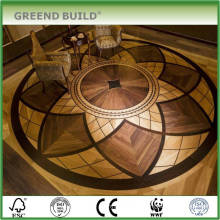 Engineered Hardwood Floor Elegant medallion wood floor