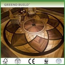 Piso de madeira de engenharia Piso de madeira elegante de medalhão