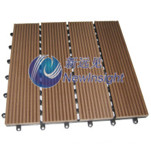 WPC DIY Decking Tile Interlocking Composite Deck Tiles WPC Board with CE SGS Fsc ISO Wood Plastic Composite Decking Floor Lhmt007