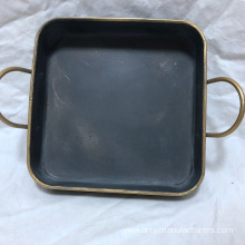 10 Years for Wire Baskets Square Antique Metal Iron Decration Tray supply to United States Factory