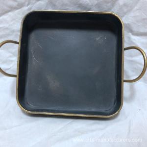 Square Antique Metal Iron Decration Tray
