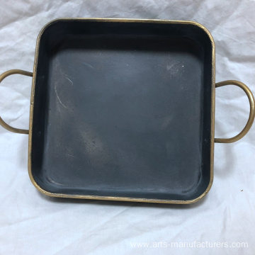 Leading Manufacturer for for Wire Baskets Square Antique Metal Iron Decration Tray export to United States Manufacturers