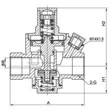 Gute Qualität Messing Wasser Druck Ventil Verringerung Ventil