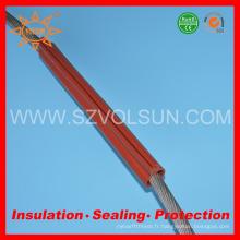 Tube d'isolation en caoutchouc de silicone résistant à la tension moyenne