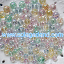 8-20MM Acrylic Round Sparkle Transparent with Glitter Colorful Chunky Gumball Bubblegum Beads