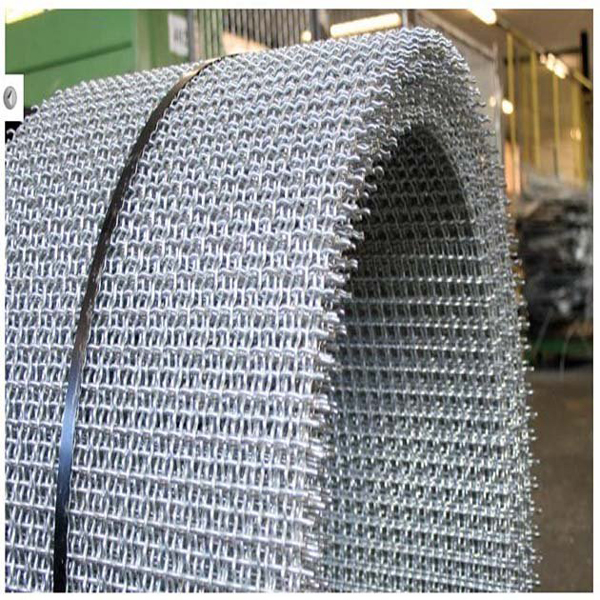 crushing crimped mesh