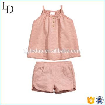 Boa qualidade crianças verão vestido conjunto de roupas
