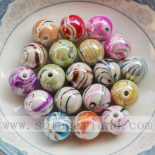 China New Product for plastic pearl beads AB finished acrylic round beads with grain export to Aruba Factories