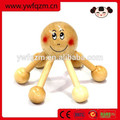 Masajeador de cabeza de salón en forma de pulpo de madera