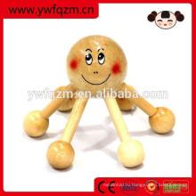 Деревянный осьминог форму головы салон массажер