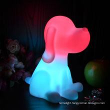 Multi color Changing Novelty dog children Night Light bedroom night lamp