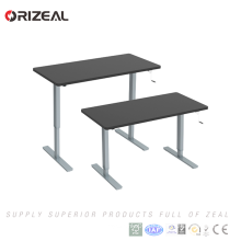 China Aluminum Alloy Hand crank height adjustable standing desk for office room
