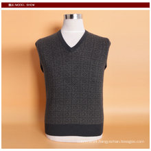 Yak Wool/Cashmere V Neck Pullover Long Sleeve Sweater/Garment/Knitwear