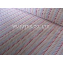 Plain weave Cotton Nylon Fabric / spandex stripe fabric wit