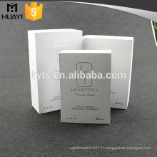 boîte de l'échantillon de parfum de carton sur mesure de haute qualité fait sur commande de parfum
